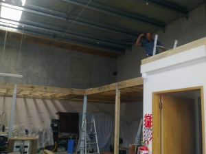 Mezzanine floor view of top